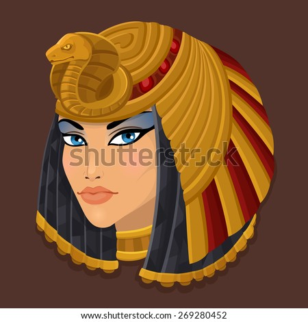 icon portrait cleopatra vector