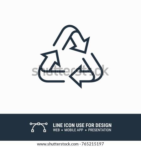 Icon recycle symbol graphic design single icon vector illustration