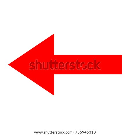 Icon red arrow direction on a white background
