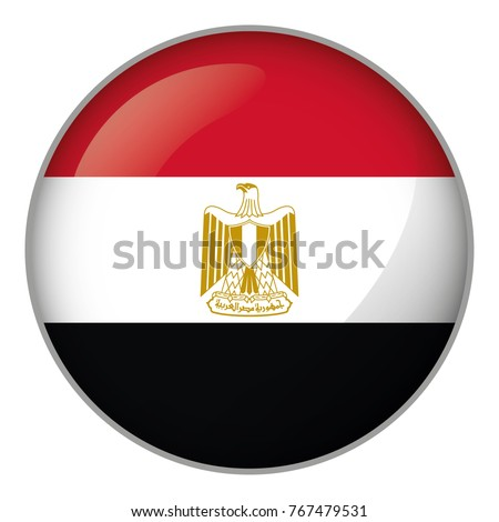 Icon representing button flag of Egypt. Ideal for catalogs of institutional materials and geography