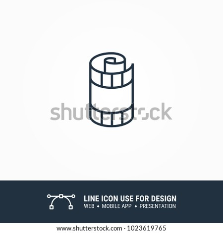 icon rolled film tape