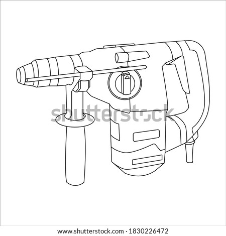 icon rotary hammer. logo rotary hammer. illustration of  rotary hammer for website. Perfect use for web, pattern, design, icon, ui, ux, etc. Stockfoto ©