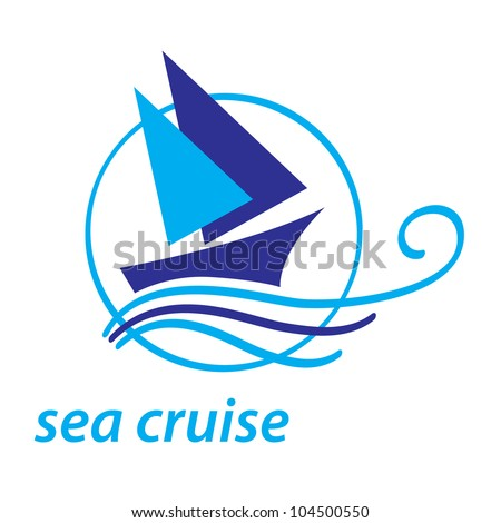 icon - sea cruise - stock vector