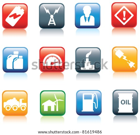icon series for energy and power and fuel industries