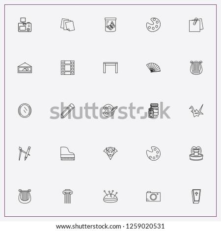 icon set about art   glue