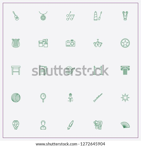 icon set about art with