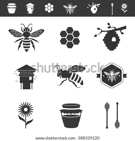 icon set about bees and