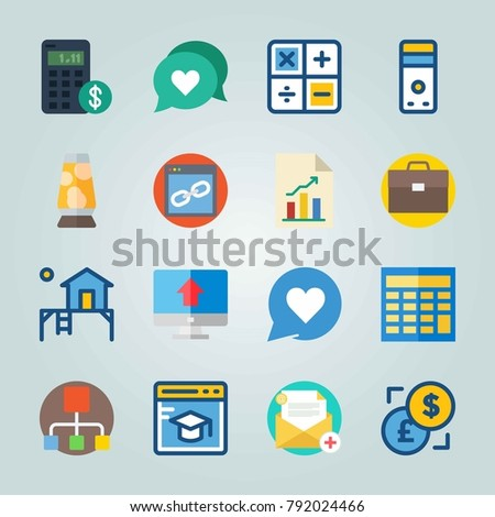 icon set about digital