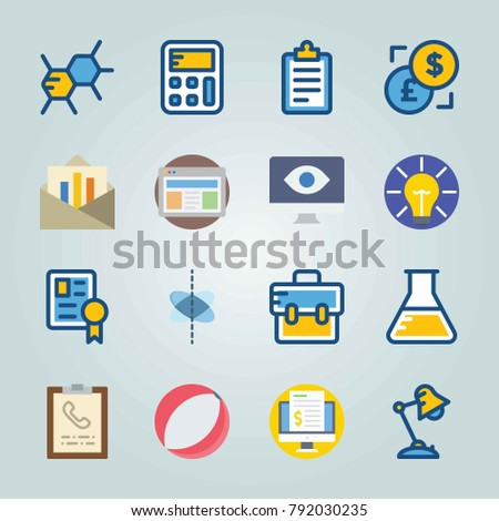 icon set about education and