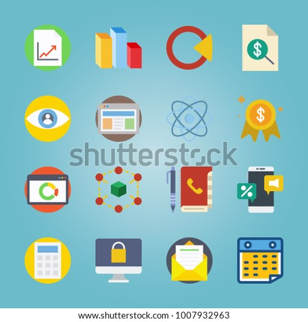 icon set about marketing with
