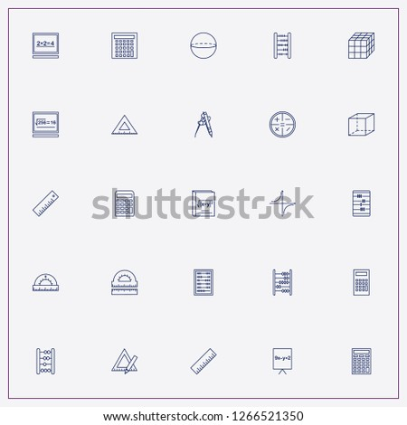 icon set about mathematics with keywords mathematics rulers, mathematical coordinate and calculator