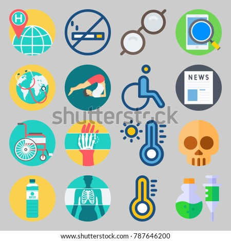 icon set about medical with x