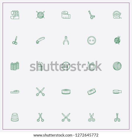 icon set about sewing with keywords measuring centimeter, measure and centimeter