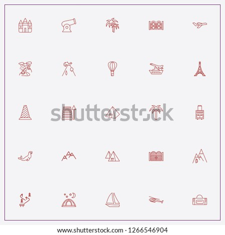 icon set about tourism with