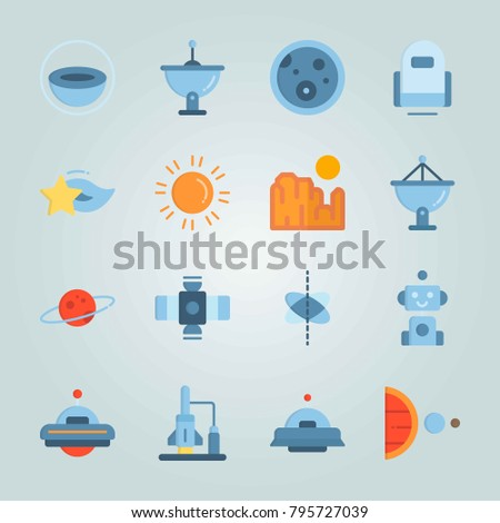 icon set about universe with