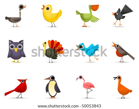 Icon Set - Birds