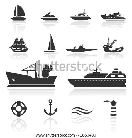 icon set  boats