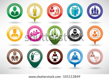Icon Set Business and Management