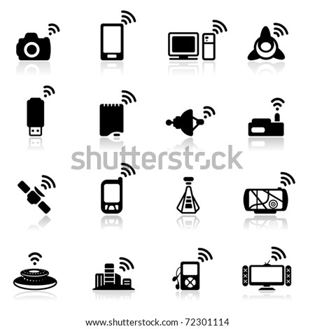 Icon set  Connection - stock vector