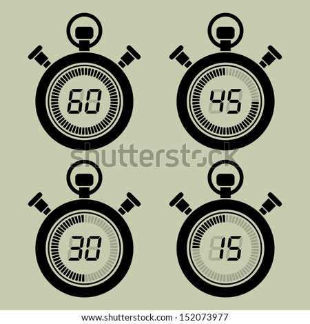 Icon set digital timers