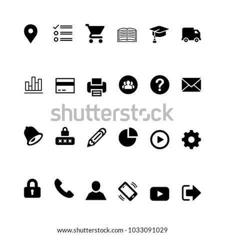 Icon set for online education. Online education icons for website or applications.