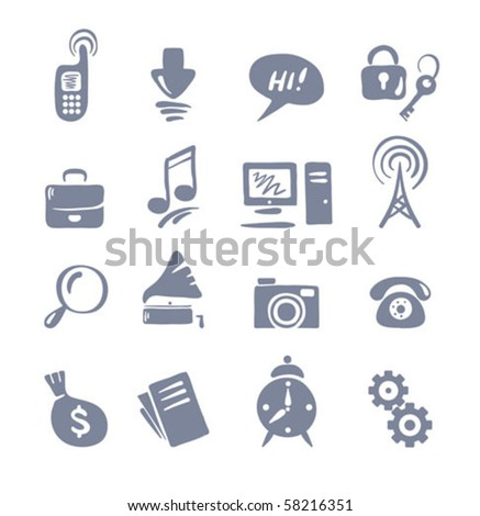 Icon Set for Web - stock vector