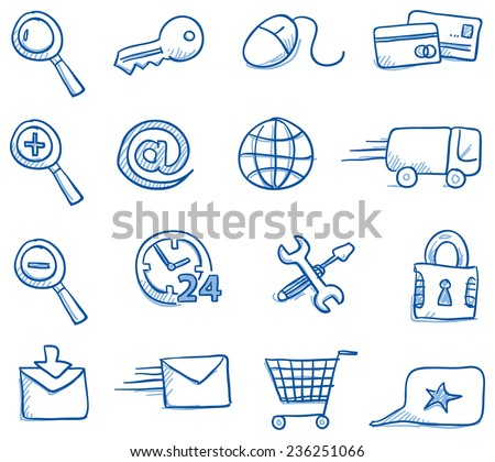 icon set internet    shopping