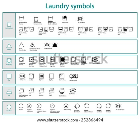 icon set of black laundry