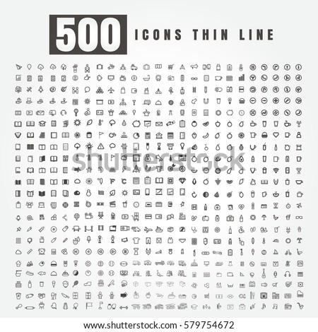 icon set of 500 combination