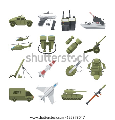 icon set of different army