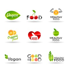 Icon set of healthy eating. Food icons. Set 1.