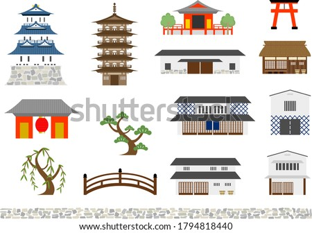 icon set of japanese
