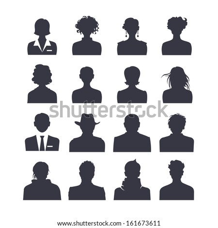icon set of people avatars