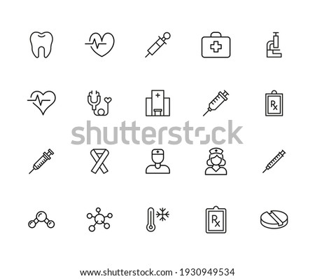 Icon set of therapy. Editable vector pictograms isolated on a white background. Trendy outline symbols for mobile apps and website design. Premium pack of icons in trendy line style.