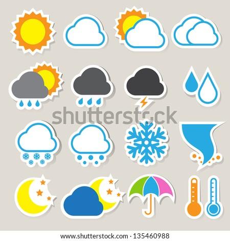 Icon set of weather, Illustration eps 10