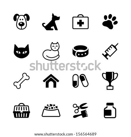 icon set    pets  vet clinic