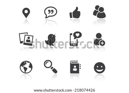 Icon set - Reflection - Social Media - Illustration Photo stock ©