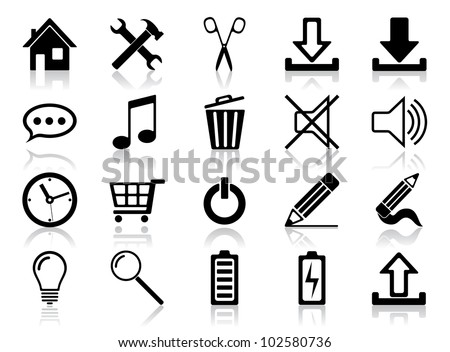 Icon set. Vector illustration of different web icons