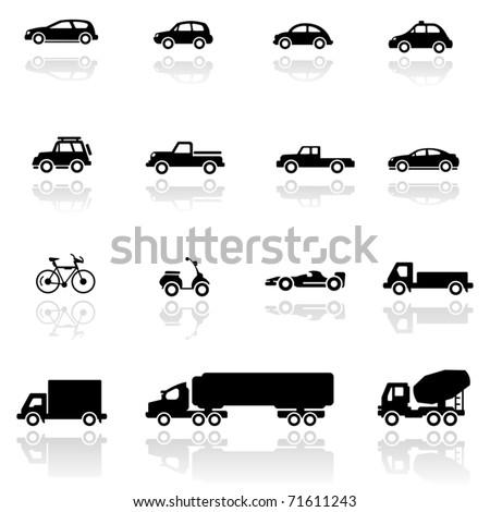 Icon set  Vehicles