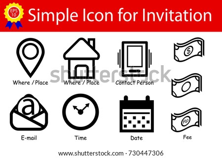 icon sign   place  time  date