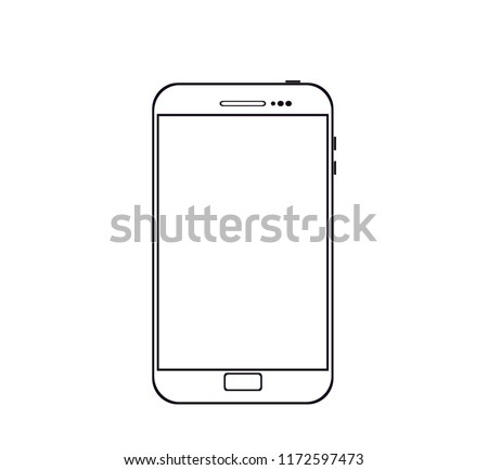 icon smartphone outline vector or illustration telephone