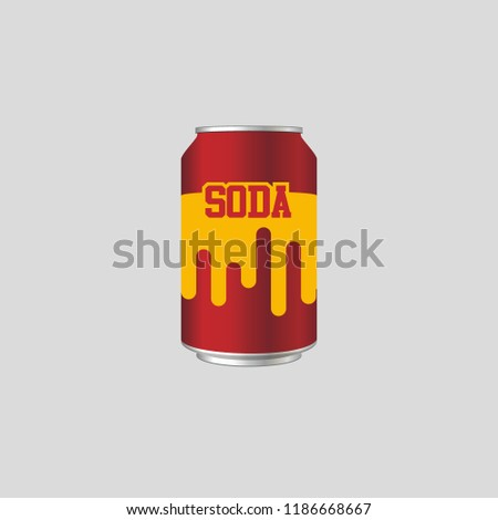 icon soda cans  vector