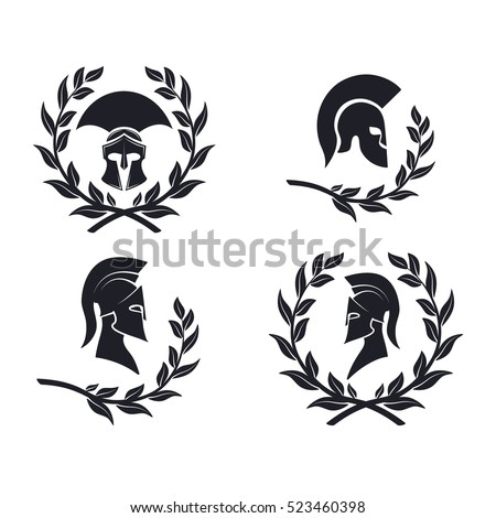 icon spartan warrior in the