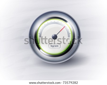 icon speedometer or clock. EPS10, transparency