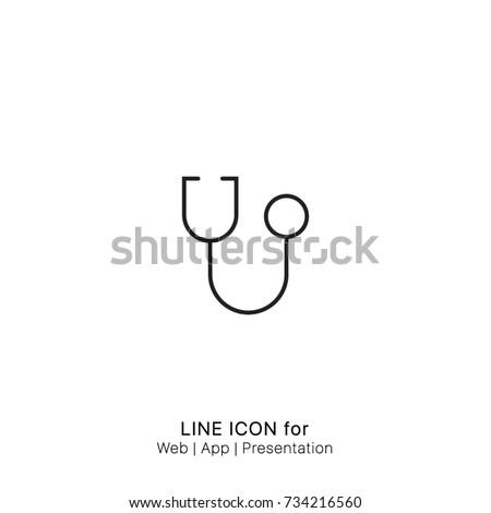 Icon stethoscope graphic design single icon vector