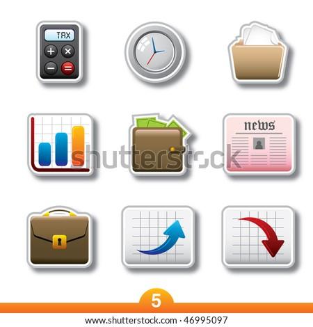 Icon sticker series 5 - business