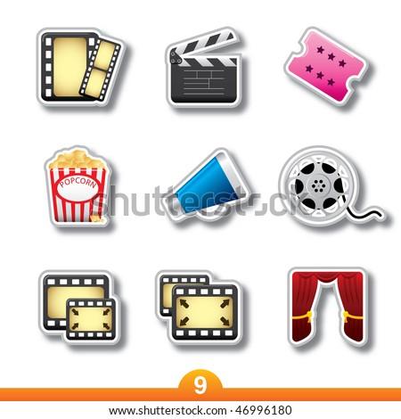 Icon sticker series 9 - movie and film