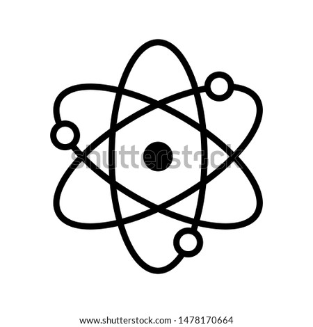 Icon structure of the nucleus of the atom. Atom, protons, neutrons and electrons. icon vector illustration