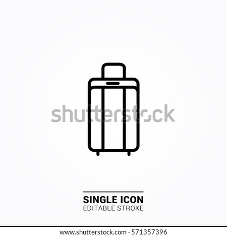 Icon suitcase single icon graphic designer