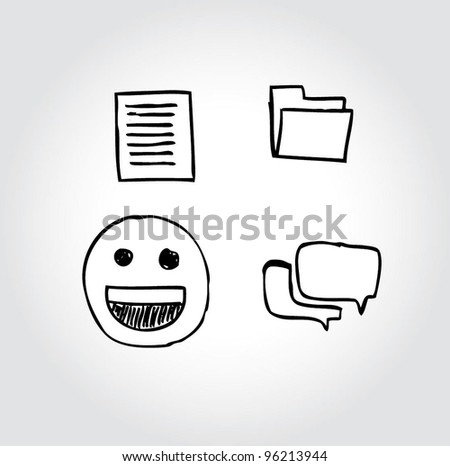 icon/symbol computer internet  file - stock vector